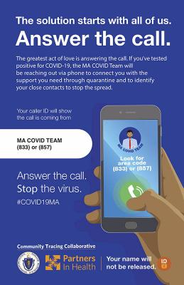 Answer the Call. MA COVID-19 Contact Tracing Team